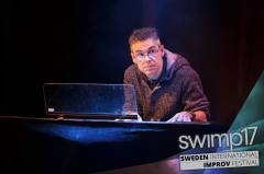 Performing a show @ SWIMP17 (Sweden)