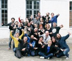 "Crew of festival ""Improovelicious 2016"", Leuven, 2016"