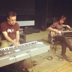 Pre-show soundcheck with The Lunatics, Ghent 2013