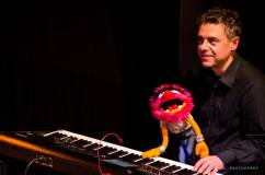 Performing a show with puppets @ Quicksilver, Antwerp 2017.