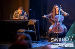 Performing with Trickle @ SWIMP 207, with Annamaria Moro on cello.