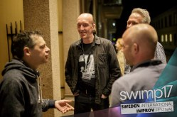 Post-show discussion with Det Hvide Snit, after a show we did together in Uppsala, Sweden, 2017